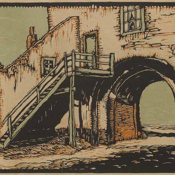 Vischpoort te Harderwijk, door P. van Dam