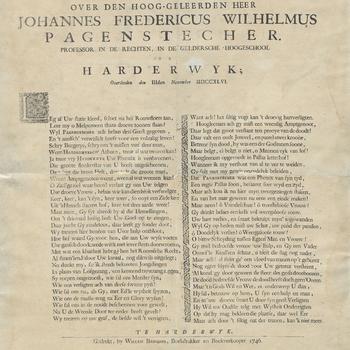 Lyk-klagt, over den hoog-geleerden heer Johannes Fredericus Wilhelmus Pagenstecher