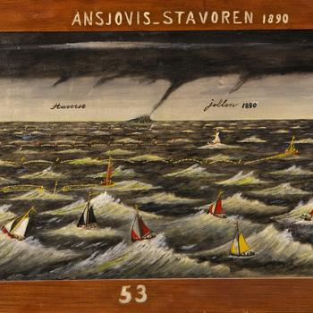 Ansjovis-Stavoren 1890 / 53, door E. den Herder