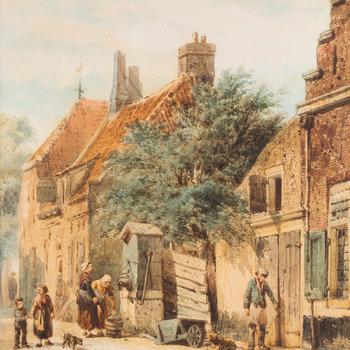 Het Walstraatje in Harderwijk, 1863