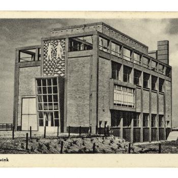 Prentbriefkaart, getiteld 'Gemaal Lovink Harderwijk'