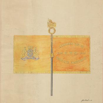 Afbeelding van het vaandel van het Koloniaal Werfdepot