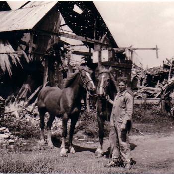 Koningin Wilhelmina Straat Verwoeste boerderij.