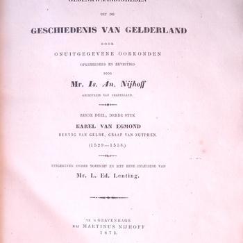 Gedenkwaardigheden uit de Geschiedenis van Gelderland, deel 6, volume 3