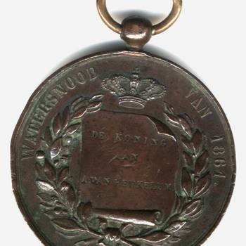 Bronzen penning, Watersnood 1861