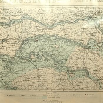 Folder van polderdistricten over overstroming Polderdistrict in 1861.