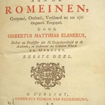 Paulus brief aan de Romeinen, deel een