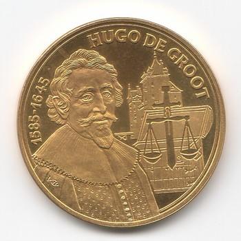 Penning van Hugo de Groot, ter gelegenheid herdenking 400ste geboortejaar.