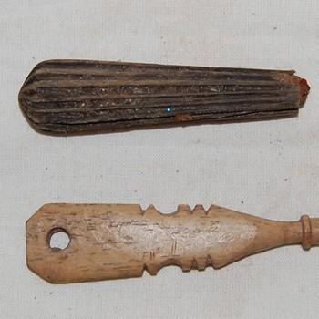 Handvaten hout en been