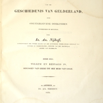 Gedenkwaardigheden uit de Geschiedenis van Gelderland, deel 3