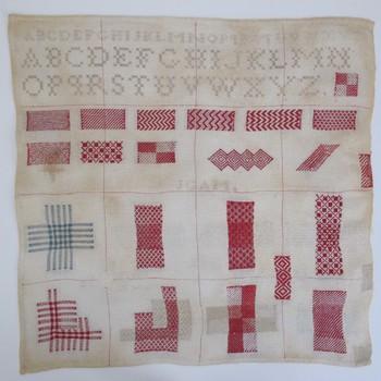 Borduurwerk gemaakt door Johanna Gerdina Albertine Monck