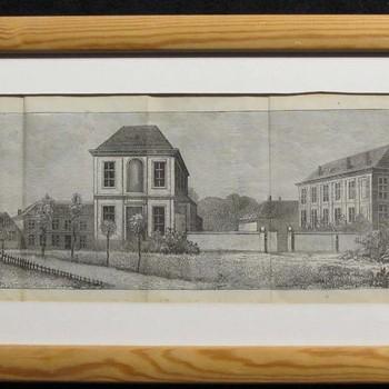 Panoramische impressie van Weesinrichting Neerbosch rond 1876