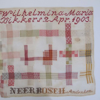 Borduurwerk gemaakt door Wilhelmina Maria Dikkers
