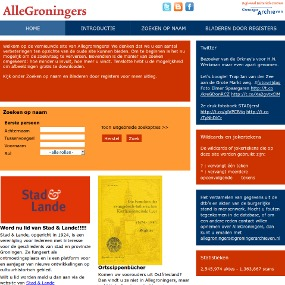 Website AlleGroningers