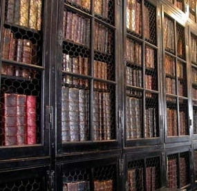 Chetham's Library, the oldest public library in the English-speaking world.