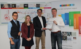 from let to right Thijs Jansen (assistent facility manager Picturae), Vera Weterings (communication manager Picturae), Dik Roeland (managing director Quality Masters), Walter Tromp (financial director Picturae) | Picturae