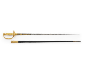 This beautiful sword was carried by Napoleon at the Battle of Austerlitz in 1805, and was afterwards his favourite sword and lucky charm. Napoleon's victory over the Austrian and Russian armies at Austerlitz gave France mastery of Europe, until Waterloo finally ended his dominance.