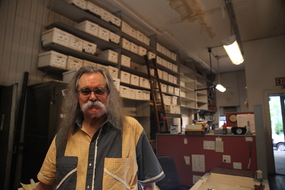 James Dee and his archives | Artstor | Photo: Marin Watts