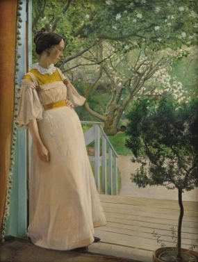 L.A. Ring - At the French Window, The Artists Wife (1897)