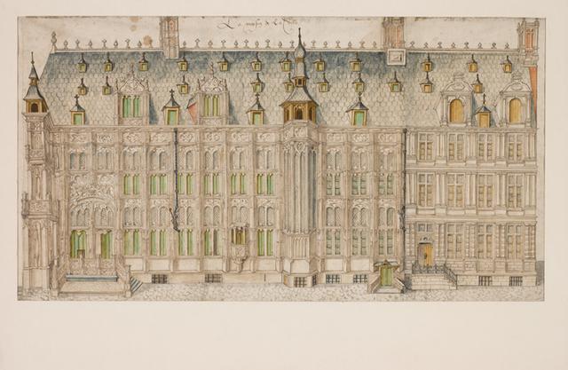 Stadhuis van Gent, gevel aan de Hoogpoort