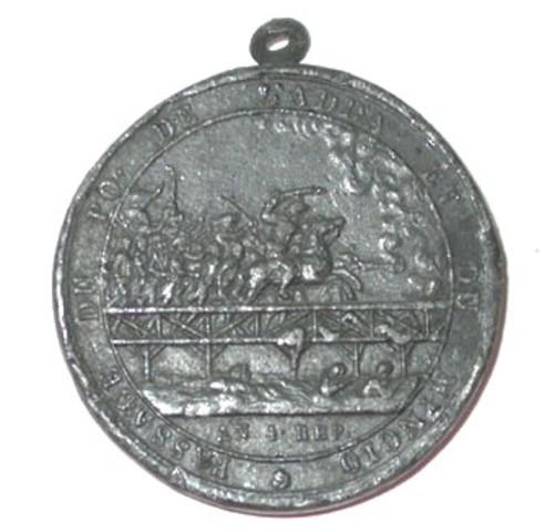 Eenzijdig loden afgietsel van gedenkpenning voor de overtocht van de brug van Adda, (1795-1796)