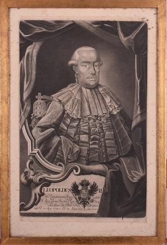 Portret van Leopold II, keizer van het Heilige Roomse Rijk, koning van Hongarije en Bohemen, groothertog van Toscane