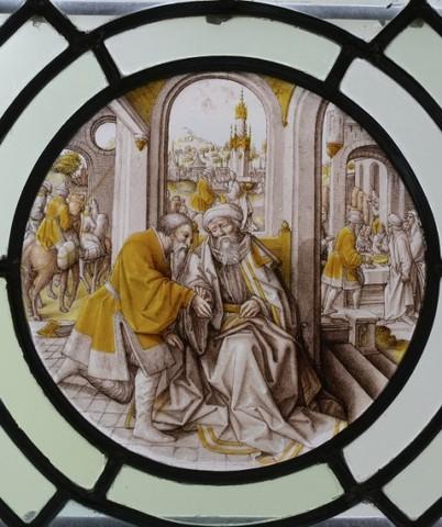 De geschiedenis van Abraham: Melchisedek zegent Abraham