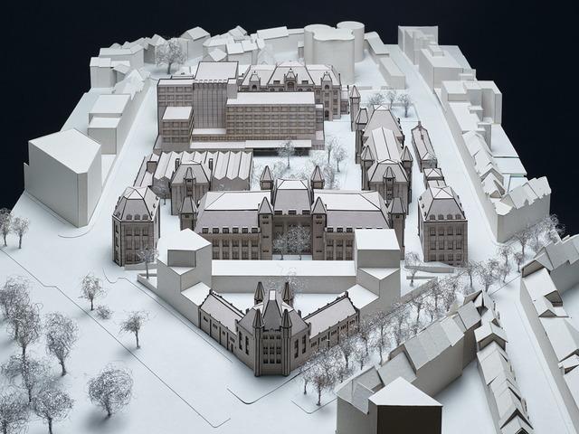 Maquette met ontwerp voor de verbouwing van de Leopoldkazerne