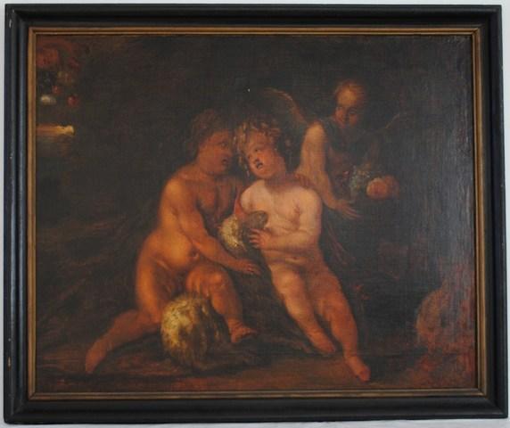 Jezus en Johannes met een engel