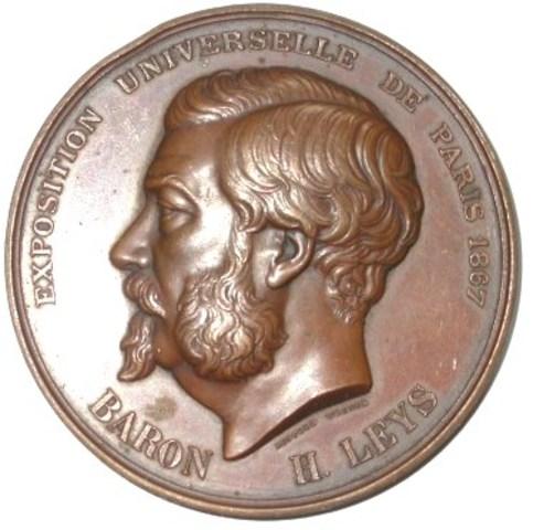 Erepenning aan Baron H. Leys vanwege de Cercle Art. Litt. et Science van Antwerpen, 1868