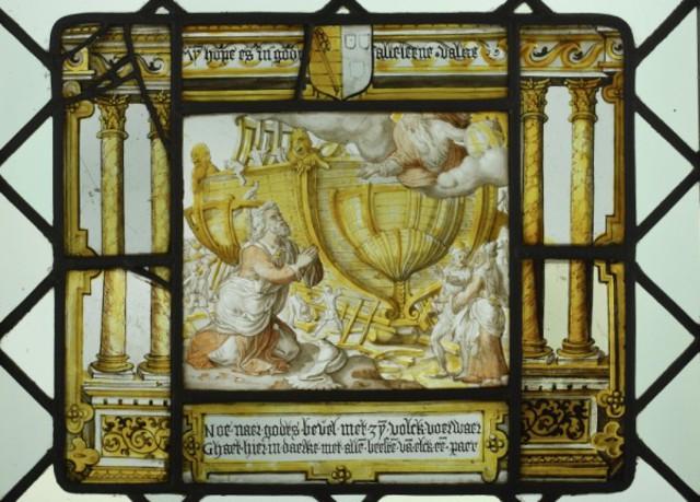 De bouw van de ark van Noach