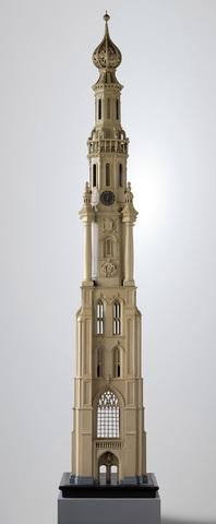Maquette van de toren van de Sint-Michielskerk te Gent