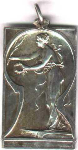Gedenkplaket voor de tentoonstelling voor oude kunst te Gent, 1907