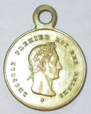Gedenkpenning voor de feesten van 25 jaar regering van Leopold I, 1856