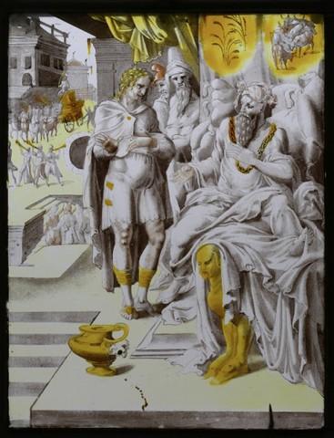 De geschiedenis van Jozef: Jozef verklaart de dromen van de Farao