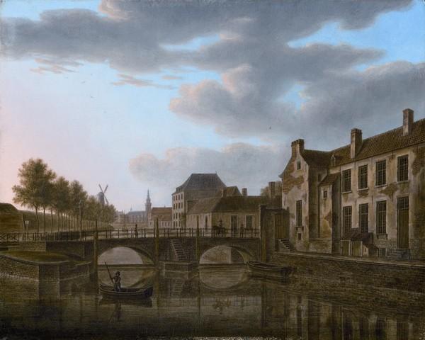 Rodetorenbrug te Gent, Vue du Pont de la passe à Gand