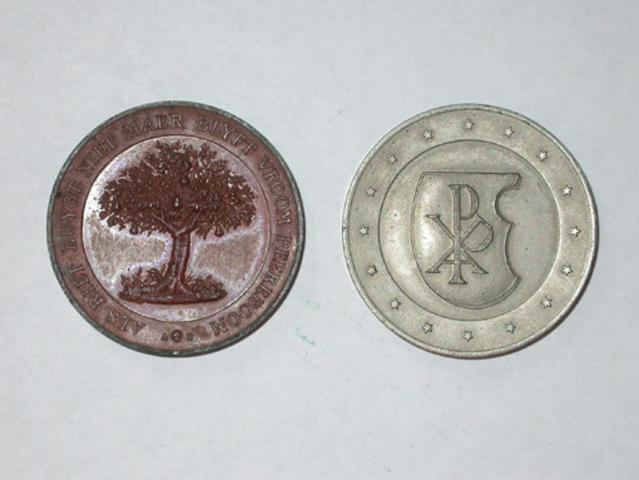 Persoonlijke penningen van A. Vandenpeereboom, (1877)