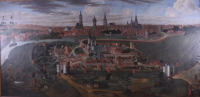 Gezicht op de heerlijkheid Sint-Baafs en de stad Gent