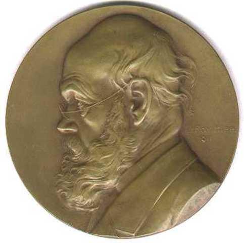 Gedenkpenning  bij de opruststelling van F. Vanderhaeghen, 1911