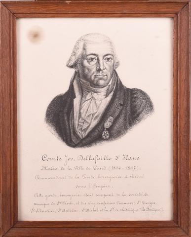 Portret van graaf Joseph della Faille d'Assenede (1756-1830), burgemeester van Gent