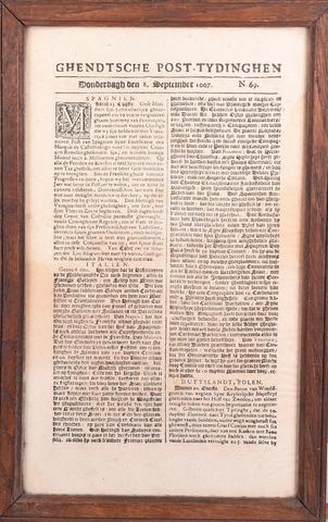Ghendtsche posttydinghe 1667