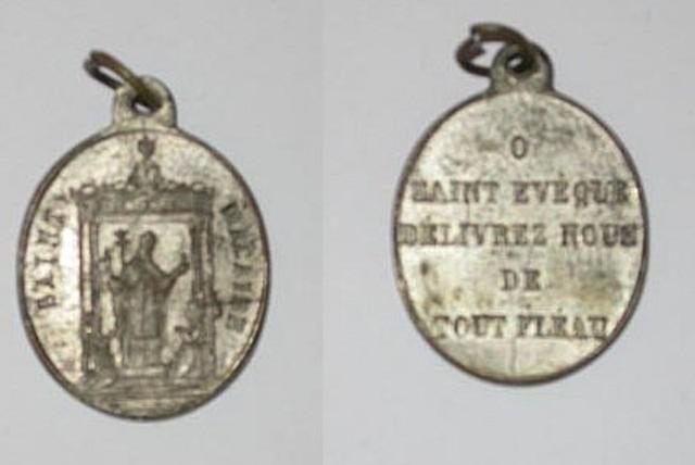 Religieuze penning voor Sint Macharius
