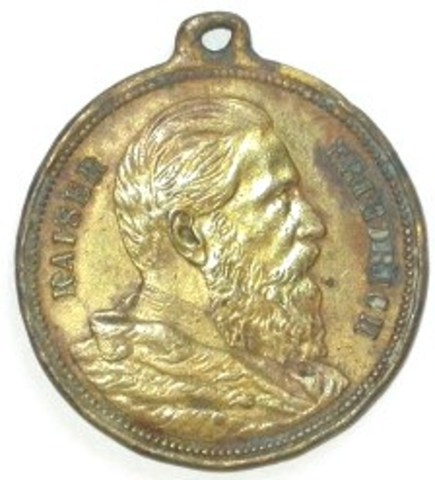 Gedenkpenning Duitse Keizer Friedrich, (1888)