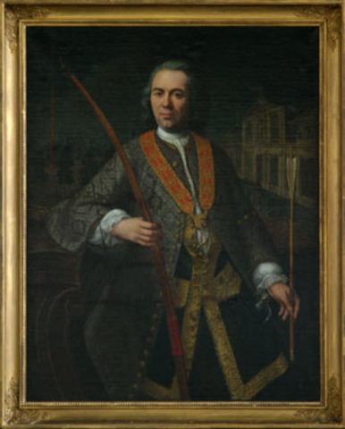 Portret van een koning van het Sint-Sebastiaansgilde te Gent
