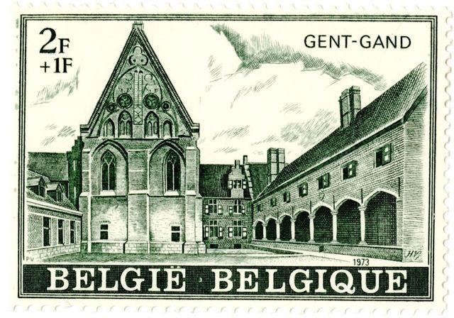 Postzegel met het Bijlokemuseum
