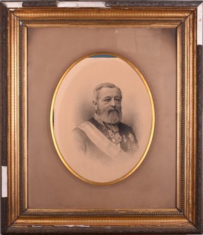 Portret van Charles de Kerchove de Denterghem, burgemeester van Gent