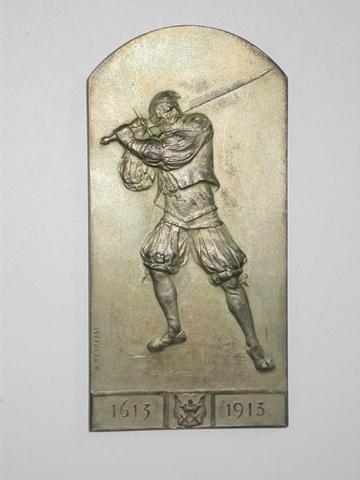 Gedenkpenning voor de 300ste verjaring van de Gentse Sint-Michielsgilde ter gelegenheid van de Wereldtentoonstelling, 1913