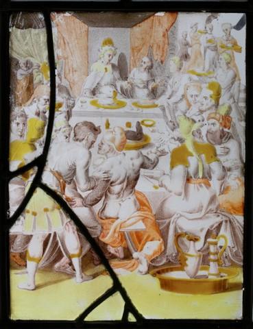 De geschiedenis van Jozef: Jozef ontvangt zijn broers bij hun tweede reis naar Egypte