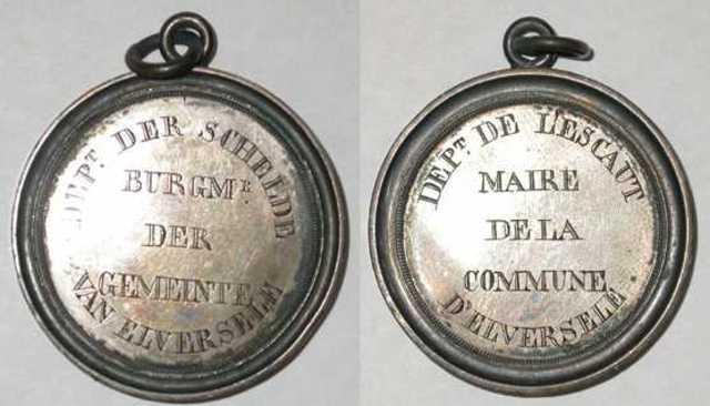 Ambtspenning van de burgemeester van Elversele tijdens de Franse periode, (1796-1815)