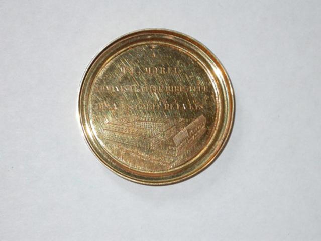 """Gedenkpenning aan M.E. Morel, directeur van """"La Lys"""", 1851"""